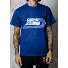 Unisex shirt Death By Rainbow Logo blue / white