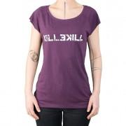 Womens KILLEKILL violet shirt / destroyed white logo